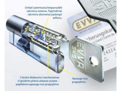 EVVA 3KSplus - 3 Curve System spyna su cilindro apdaila