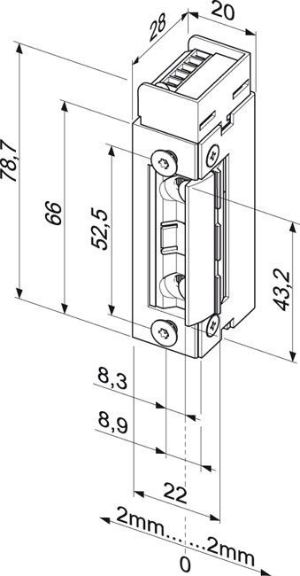 Elektromechaninė sklendė 143---Q34/5