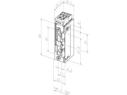 Elektromechaninė sklendė 118E.23---A71