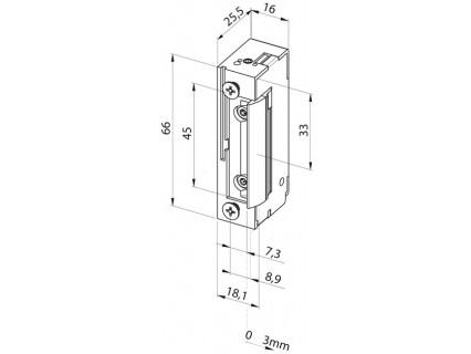 Elektromechaninė sklendė 118F---A71