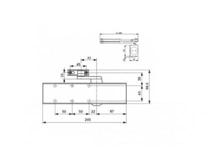 Durų pritraukėjas Dorma TS 83 su standartine alkūne