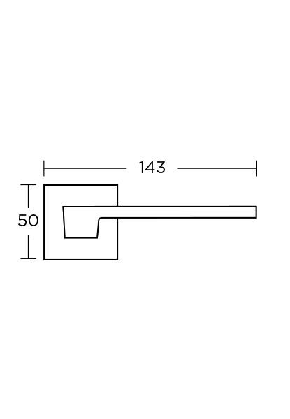 Prabangi durų rankena Convex SERIES 1535, matinis chromas