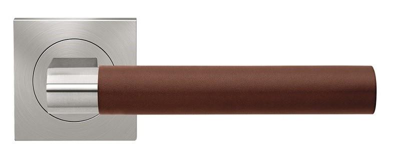 Matinis nerūdijantis plienas/Tamsiai ruda oda LD
